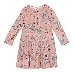 Mantaray - Girls' light pink woodland print dress
