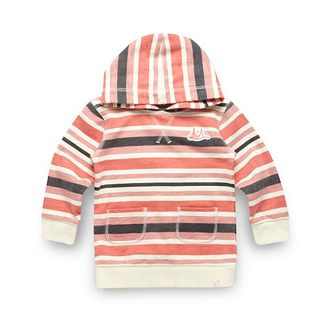 Mantaray - Girl+s coral striped hoodie