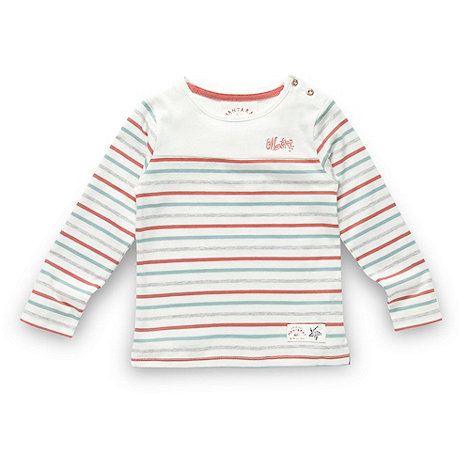 Mantaray - Girl+s white striped top