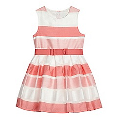 J by Jasper Conran - Girls' pink striped burnout dress
