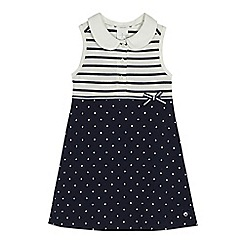 J by Jasper Conran - Girls' navy jacquard dress