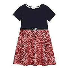 J by Jasper Conran - Girls' navy ditsy print dress