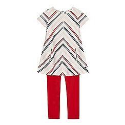 J by Jasper Conran - Girls' multi-coloured striped dress and leggings set
