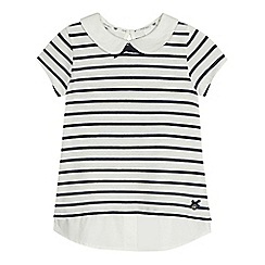 J by Jasper Conran - Girls' cream striped top