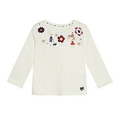 J by Jasper Conran - Girls' cream embroidered sweater