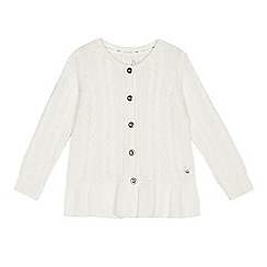 J by Jasper Conran - Girls' cream cable knit cardigan