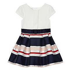 J by Jasper Conran - Girls' navy striped mock dress