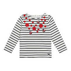 J by Jasper Conran - Girls' cream applique ladybird top