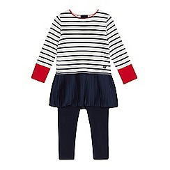 J by Jasper Conran - Girls' cream striped top and leggings set