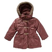 Girl's pink toggle parka jacket