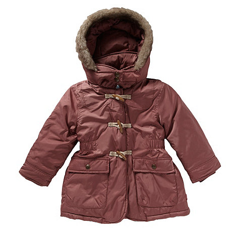 Mantaray - Girl+s pink toggle parka jacket