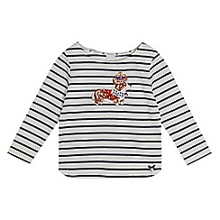 J by Jasper Conran - Girls' off white corgi applique top