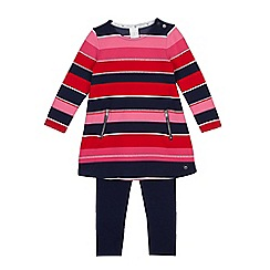 J by Jasper Conran - Girls' pink striped tunic and leggings set