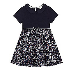 J by Jasper Conran - Girls' navy Peter Pan collar floral print dress