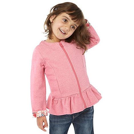 RJR.John Rocha - Girl+s pink marl sweat blazer