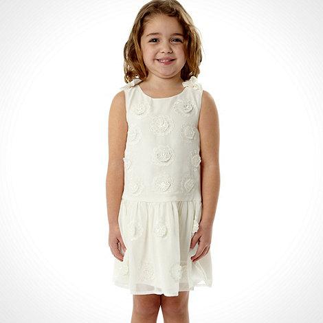RJR.John Rocha - Girl+s off white 3d flower detail dress
