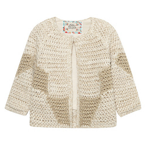 RJR.John Rocha - Designer girl+s cream metallic knit cardigan