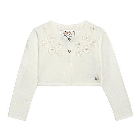 RJR.John Rocha - Girl+s white crop flower cardigan