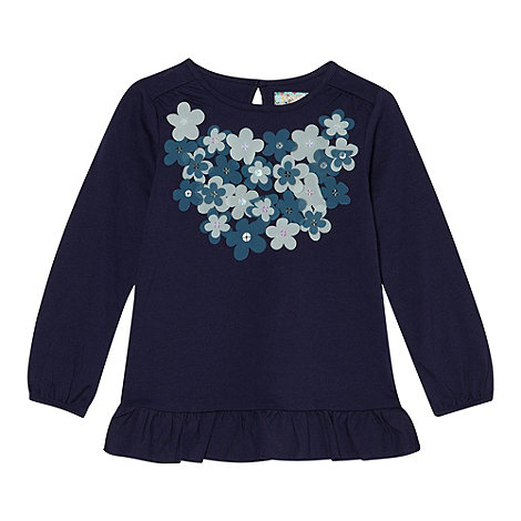 RJR.John Rocha - Girl+s blue tonal flower top