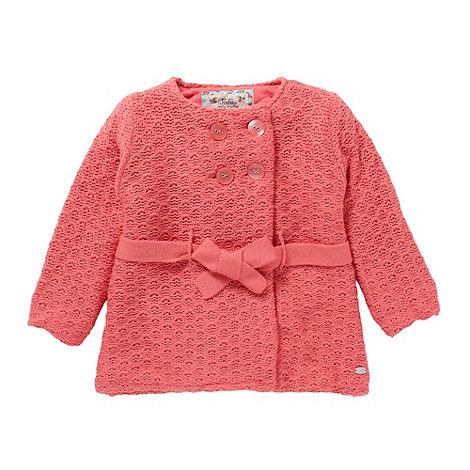 RJR.John Rocha - Designer girl+s pink belted cardigan