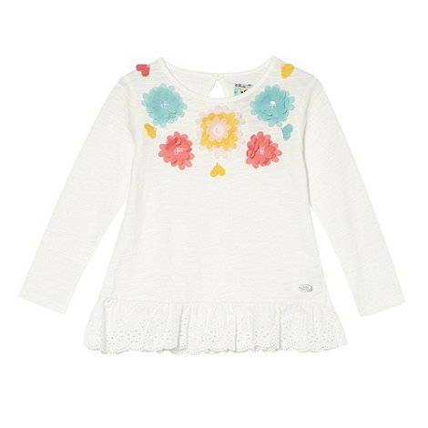 RJR.John Rocha - Girl+s white 3d floral top