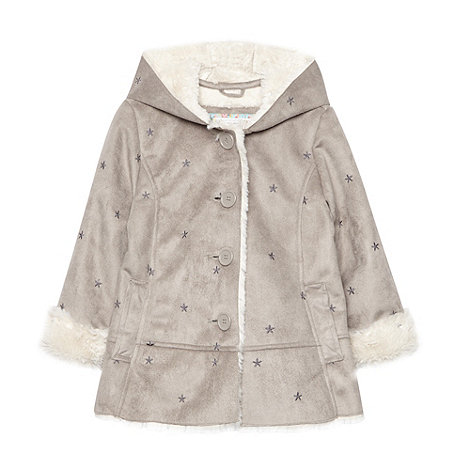 RJR.John Rocha - Girl+s grey faux sheepskin coat