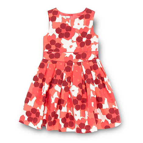RJR.John Rocha - Designer girl+s dark pink floral party dress