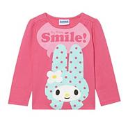 Girl's pink 'Smile' bunny t-shirt