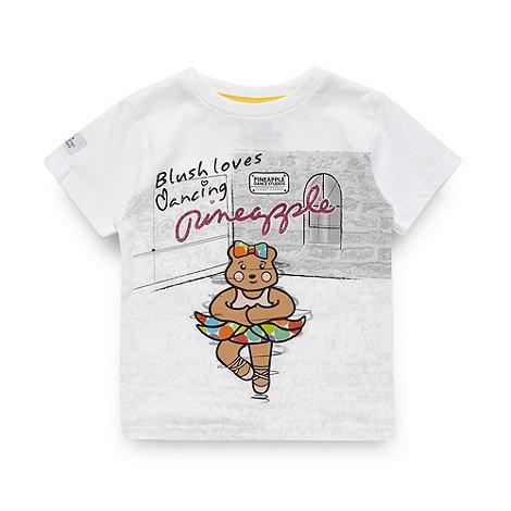 BBC Children In Need - Girl+s white dancing +Blush+ t-shirt