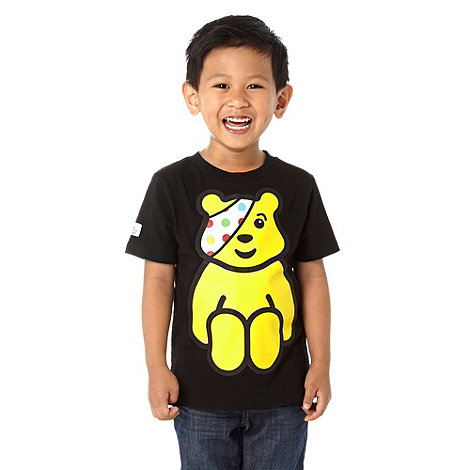 BBC Children In Need - Boy+s black + BBC Children in Need+ t-shirt