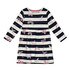 bluezoo - Girls' striped butterfly print jersey dress