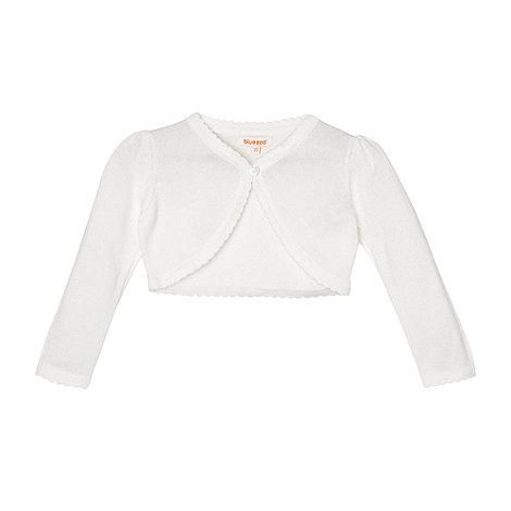 bluezoo - Girl+s white scalloped cardigan