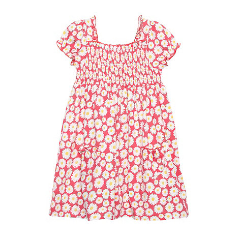 bluezoo - Girl+s pink shirred daisy dress