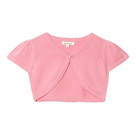 bluezoo - Girl's light pink short sleeve cardigan