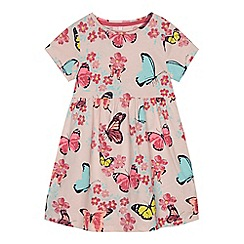 bluezoo - Girls' pink butterfly print dress