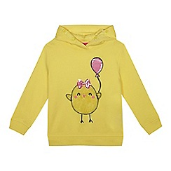 bluezoo - Girls' yellow sequinned chick sweater