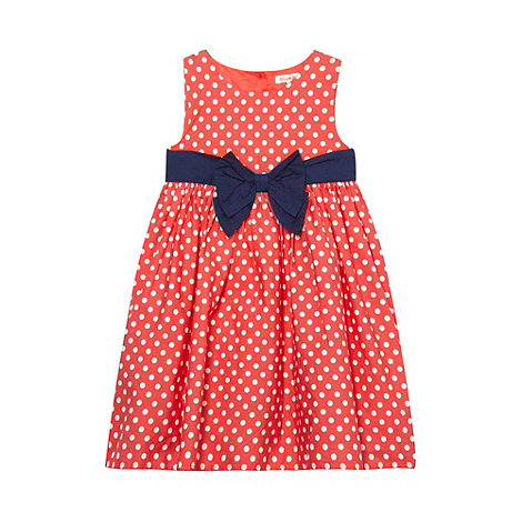 bluezoo - Girl+s red spotted bow dress