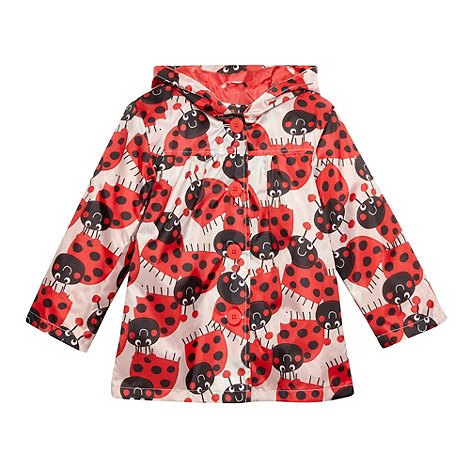 bluezoo - Girl's red ladybird mac coat