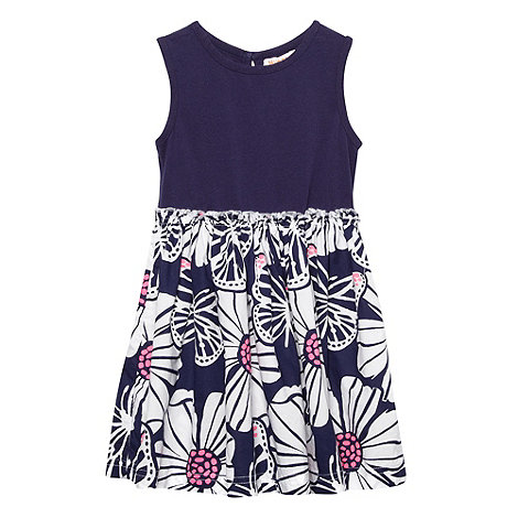 bluezoo - Girl+s navy bold flower dress