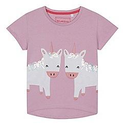 bluezoo - Girls' lilac unicorn applique t-shirt