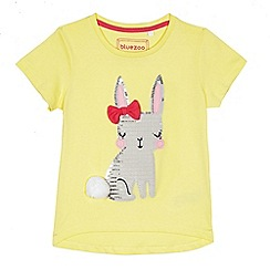 bluezoo - Girls' yellow sequinned bunny t-shirt