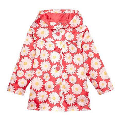 bluezoo - Girl+s pink daisy print rain mac