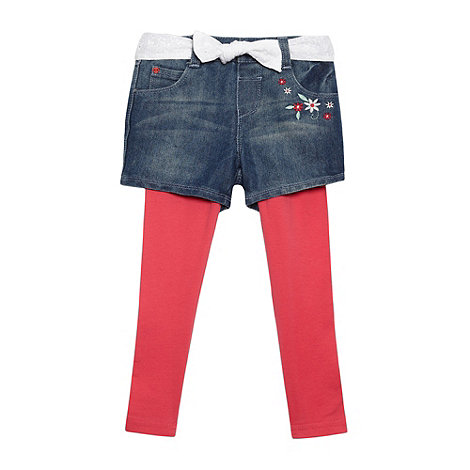 bluezoo - Girl+s blue denim shorts and leggings set