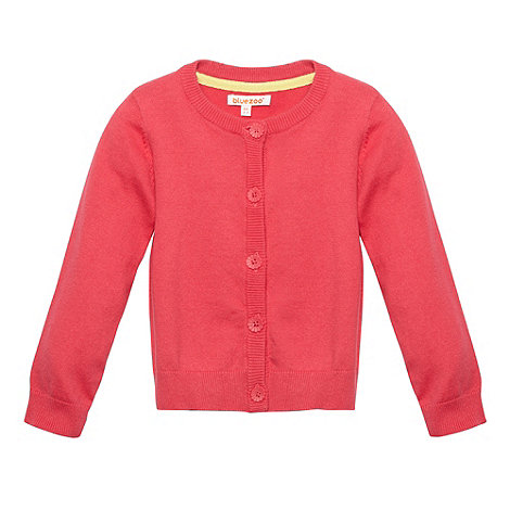 bluezoo - Girl+s pink daisy button cardigan