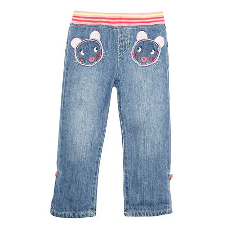 bluezoo - Girl+s blue mouse pocket jeans