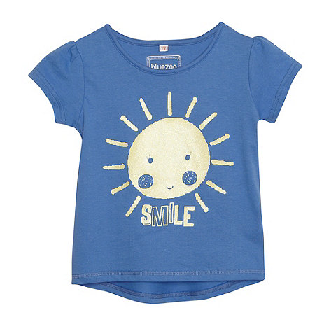 bluezoo - Girl+s blue +Smile+ t-shirt