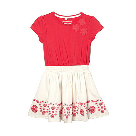 bluezoo - Girl+s pink 2-in-1 floral hem dress