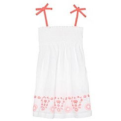 bluezoo - Girl's off white embroidered dress