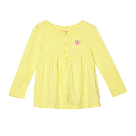 bluezoo - Girl+s yellow jersey cardigan