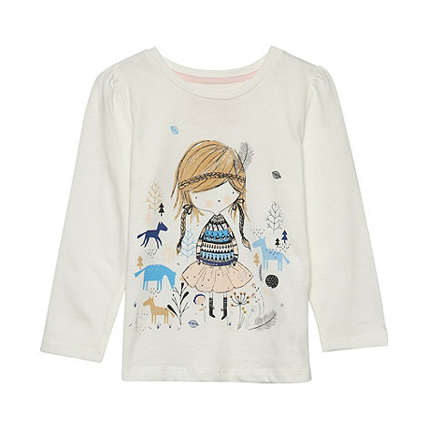bluezoo - Girl+s white plaited girl t-shirt